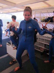 Stinger suit girl